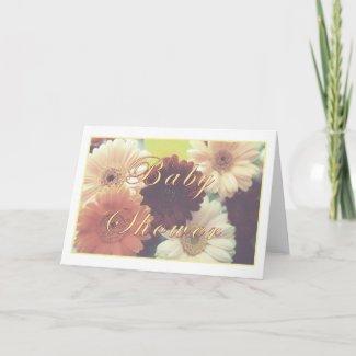 Summer Morning Baby Shower Daisy Greeting Card card