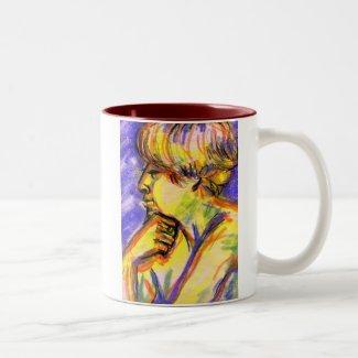 The Thinker & Violet Eyes mug