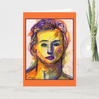 Violet Eyes Greeting Card card