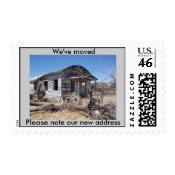 We've Moved postage stamps stamp