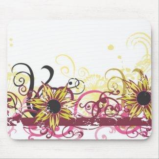 Yellow flowers Mousepad mousepad